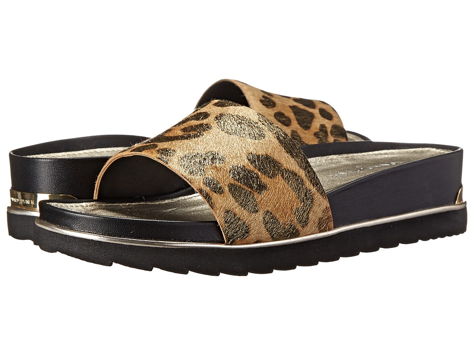Donald J Pliner - Cava (Black/Natural Leopard) Women's Sandals