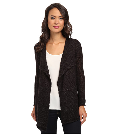 Calvin Klein Jeans - Open Drape Cardigan (Black) Women's Sweater