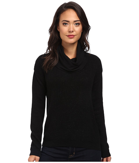 Calvin Klein Jeans - Textured Lurex Cowl Neck (Black) Women