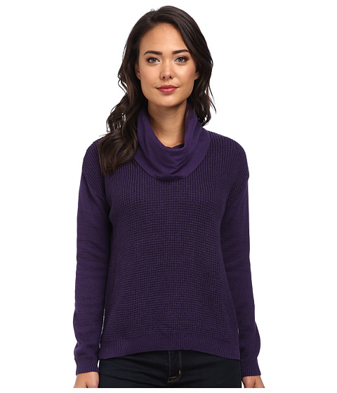 Calvin Klein Jeans - Textured Lurex Cowl Neck (Argon Purple) Women