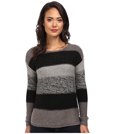 Calvin Klein Jeans - Textured Colorblocked Crew Neck (Black) Women's Sweater
