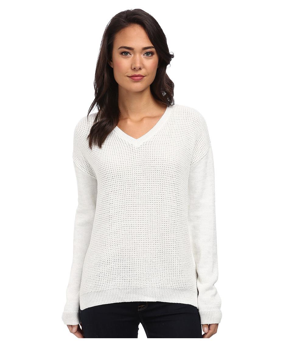 Calvin Klein Jeans - Textured Lurex V-Neck (Gardenia) Women