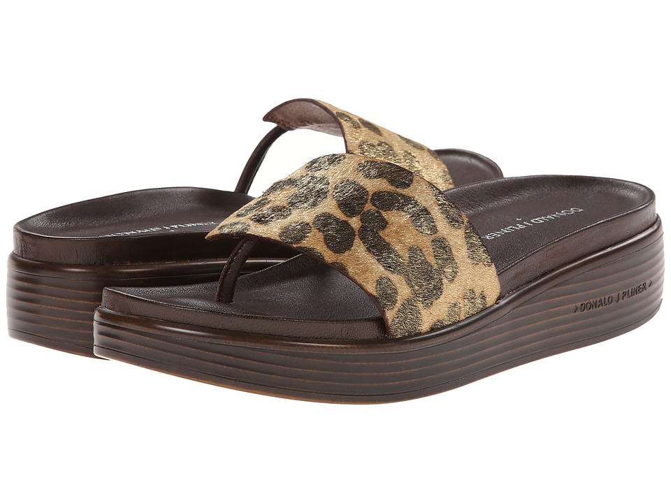 Donald J Pliner - Fifi (Black/Natural Leopard) Women's Sandals