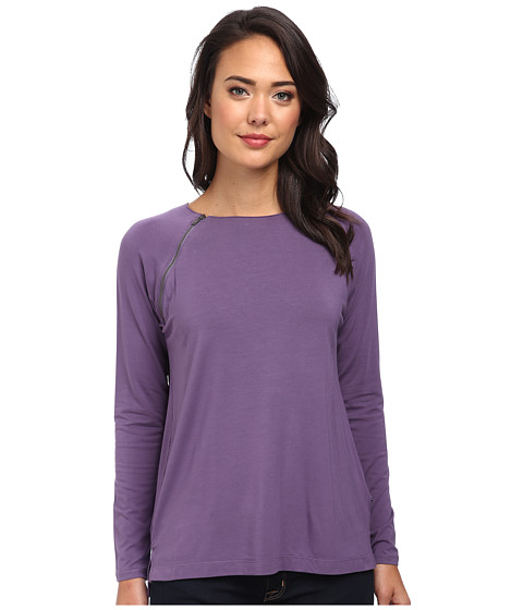 Calvin Klein Jeans - L/S Raglan Zip Top (Dusty Lilac) Women's Long Sleeve Pullover