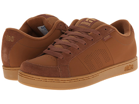 etnies - Kingpin (Brown/Tan/Brown) Men's Skate Shoes