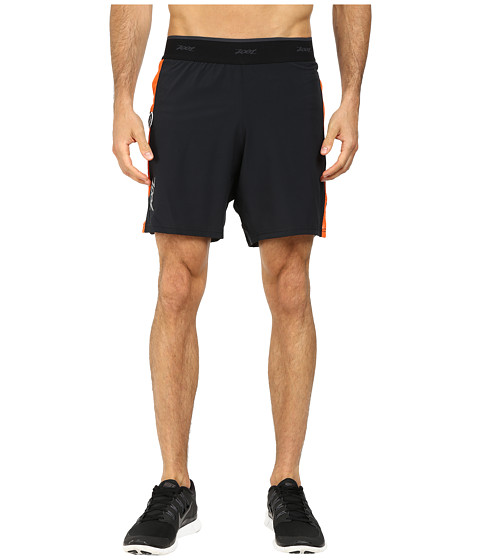 Zoot Sports - Run PCH 2-1 7 Short (Black/Sun Down) Men
