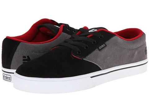etnies - Jameson 2 (Black/Grey/Red) Men's Skate Shoes
