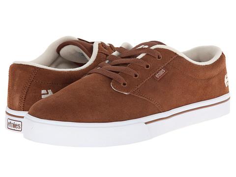 etnies - Jameson 2 (Brown/White) Men's Skate Shoes