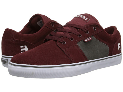 etnies - Barge LS (Maroon/White) Men
