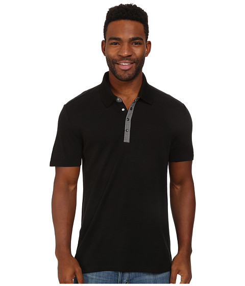 Icebreaker - Transport S/S Polo (Black) Men