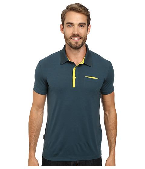 Icebreaker - Quattro S/S Polo (Pine) Men's Short Sleeve Pullover