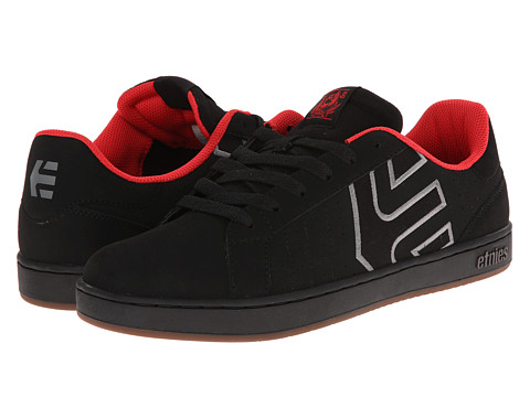 etnies - Fader LS (Black/Grey/Red) Men