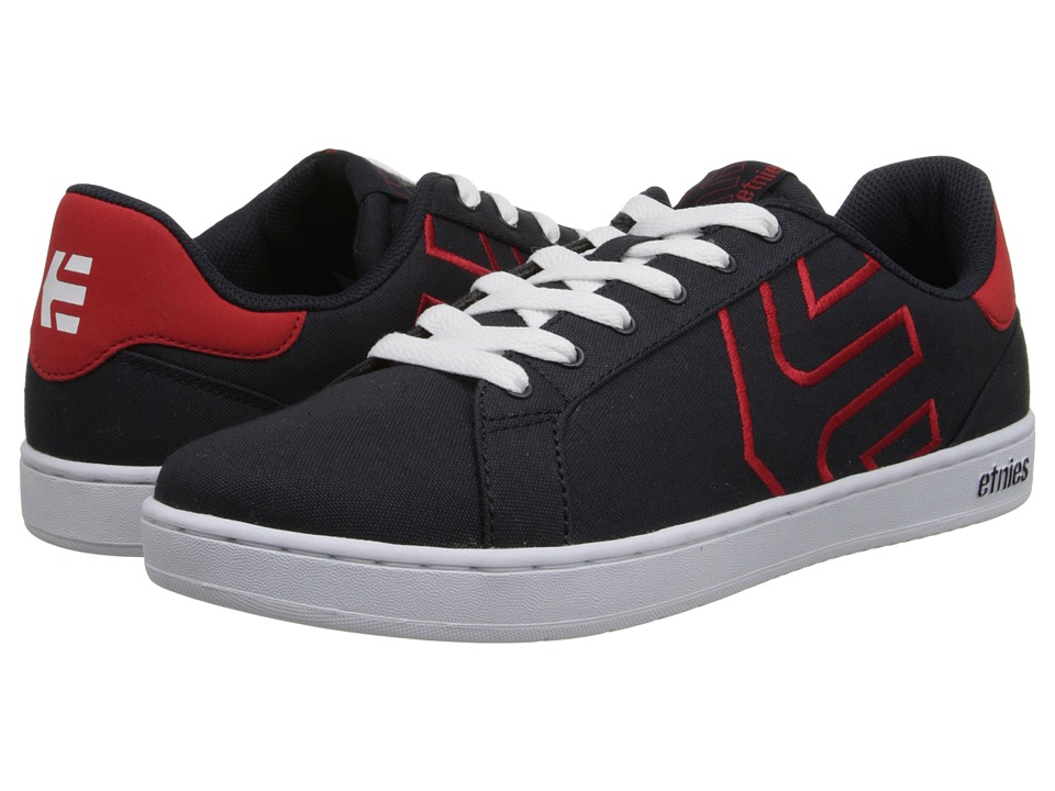 Etnies Fader Ls Skate Shoes Navy Red White