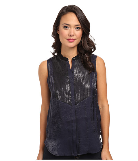 Calvin Klein Jeans - Sequined Front Tuxedo Tank (Odyssey) Women's Sleeveless