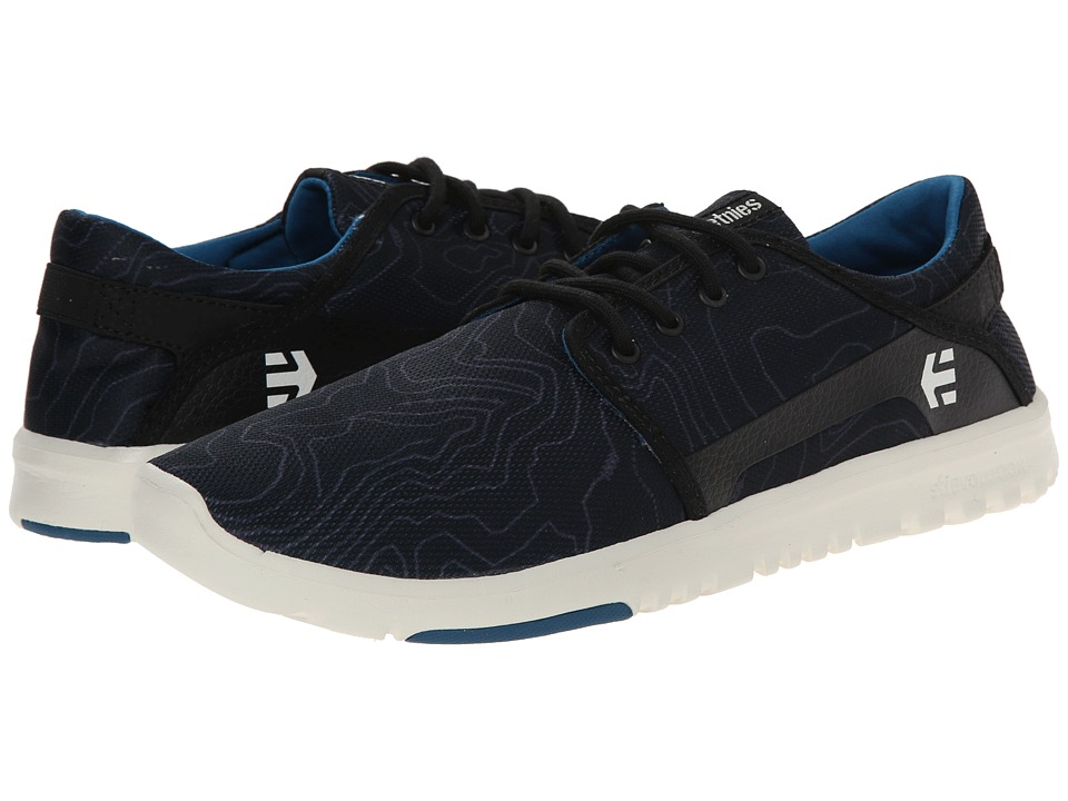 etnies - Scout (Black/Print) Men's Skate Shoes