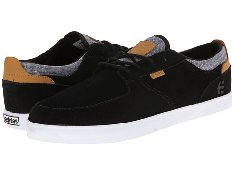 etnies - Hitch (Black/White/Gum) Men's Skate Shoes