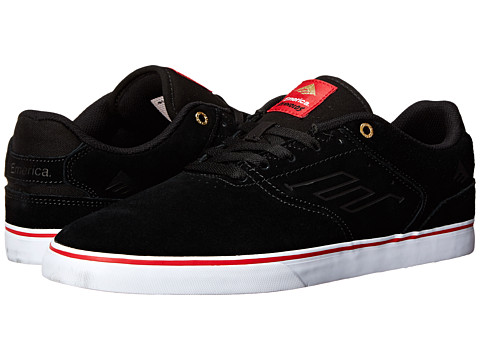 Emerica - The Reynolds Low Vulc (Black/Red/White Suede) Men