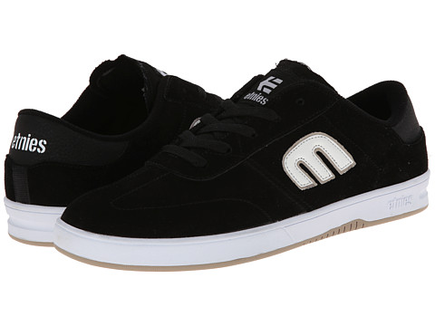 etnies - Lo-Cut (Black/White) Men's Skate Shoes