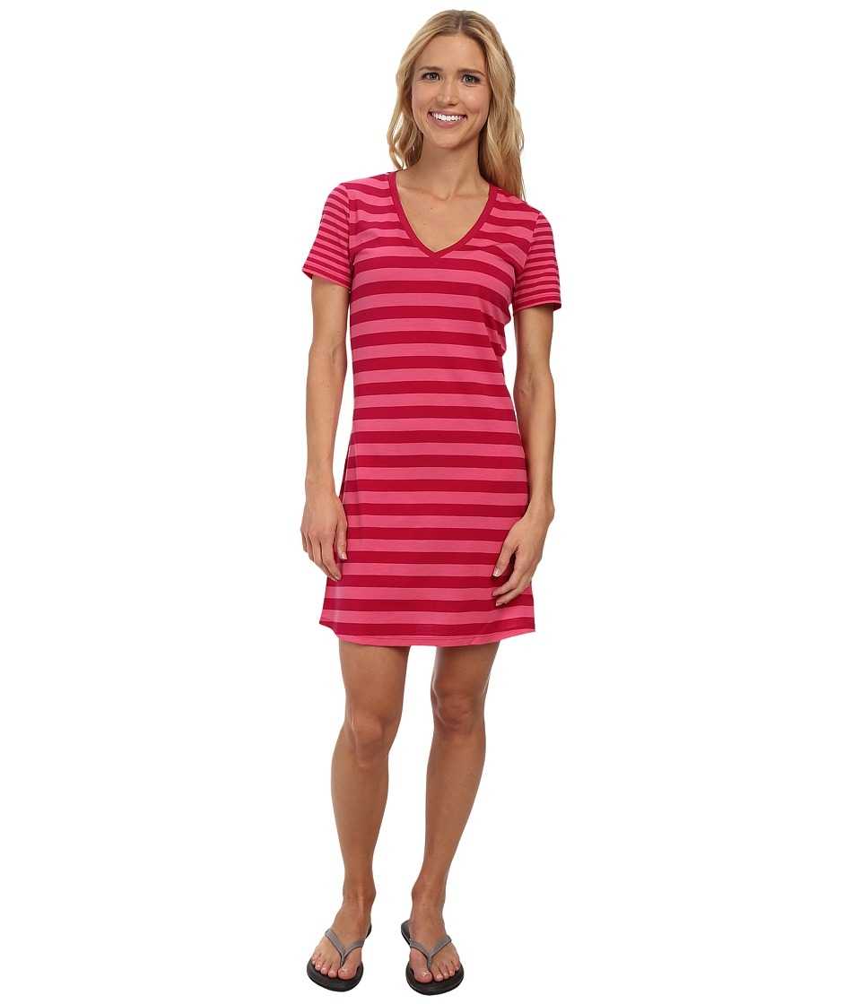 Icebreaker Tech Lite S/S V-Neck Dress (Raspberry) Women
