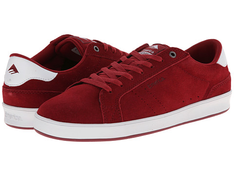 Emerica - The Leo Dos (Burgundy/White) Men's Skate Shoes