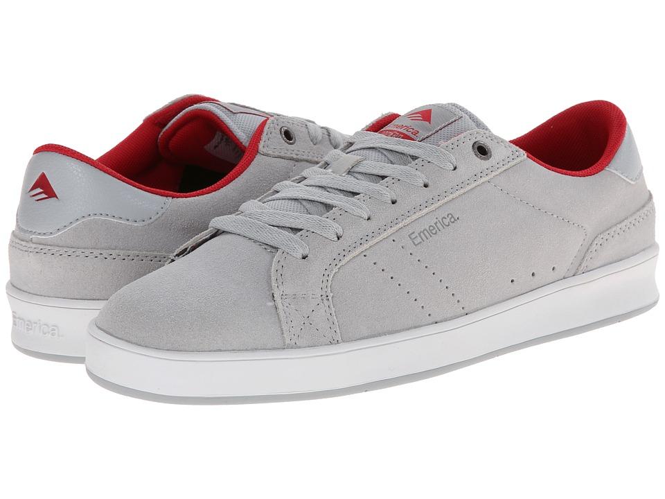 Emerica - The Leo Dos (Grey/Red) Men's Skate Shoes