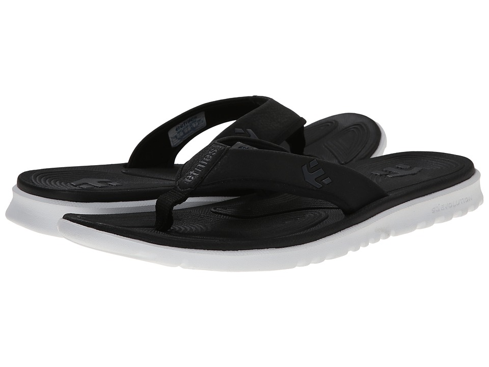 etnies - Scout Sandal (Black/White) Men's Sandals