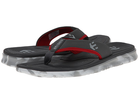etnies - Scout Sandal (Dark Grey/Red/White) Men
