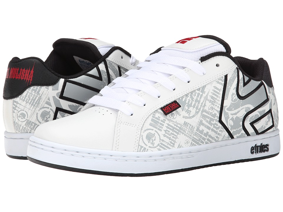 etnies - Fader x Metal Mulisha (White/Black/Red) Men's Skate Shoes