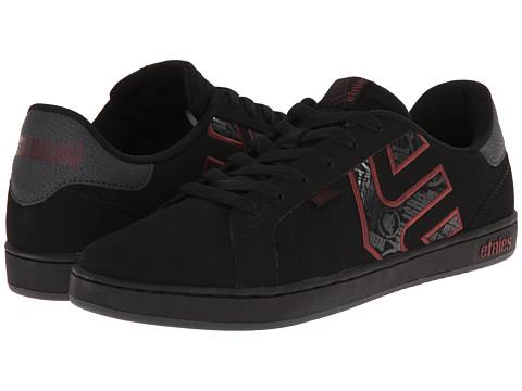 etnies - Metal Mulisha Fader LS (Black/Red/Grey) Men's Skate Shoes