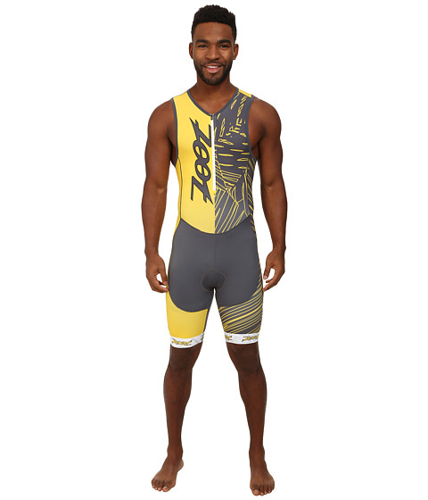 Zoot Sports - Performance Tri Team Racesuit (Pewter/Sub Atomic Yellow) Men's Race Suits One Piece