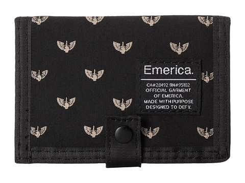Emerica - Vuelo Wallet (Black/Black) Wallet Handbags