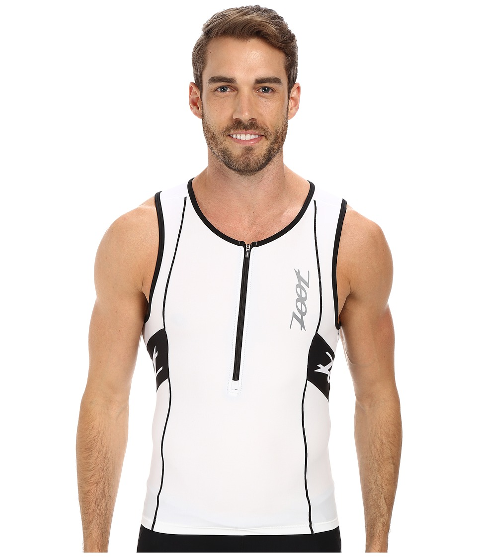 Zoot Sports - PERFORMANCE Tri Tank (White/Black) Men's Sleeveless