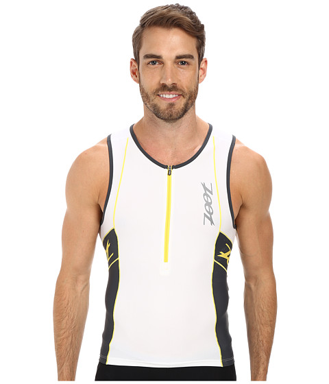 Zoot Sports - PERFORMANCE Tri Tank (White/Pewter) Men's Sleeveless