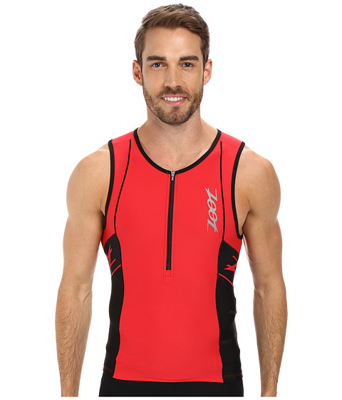 Zoot Sports - PERFORMANCE Tri Tank (Zoot Red/Black) Men's Sleeveless