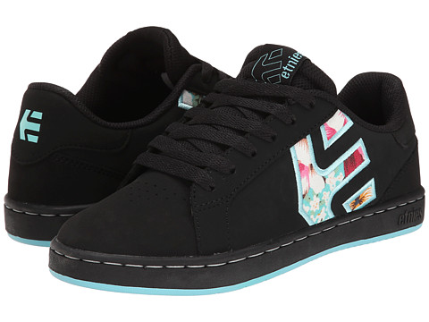etnies - Fader LS W (Black/Black/Blue) Women's Skate Shoes