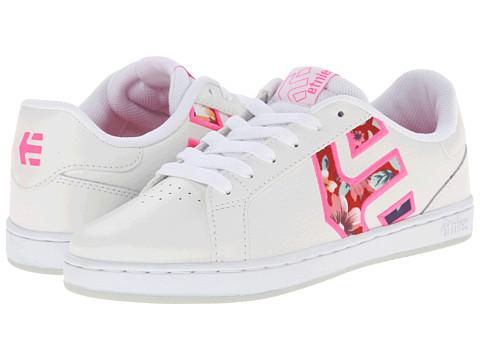 etnies - Fader LS W (White/Pink/White) Women