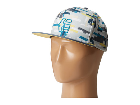 etnies - Rook Snapback Hat (White/Light Grey) Baseball Caps