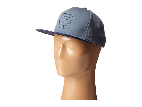 etnies - Icon 7 Snapback Hat (Pacific Blue) Caps