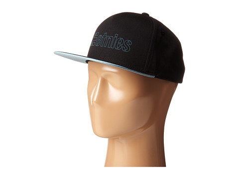 etnies - Corporate 5 Snapback Hat (Black/Teal) Caps