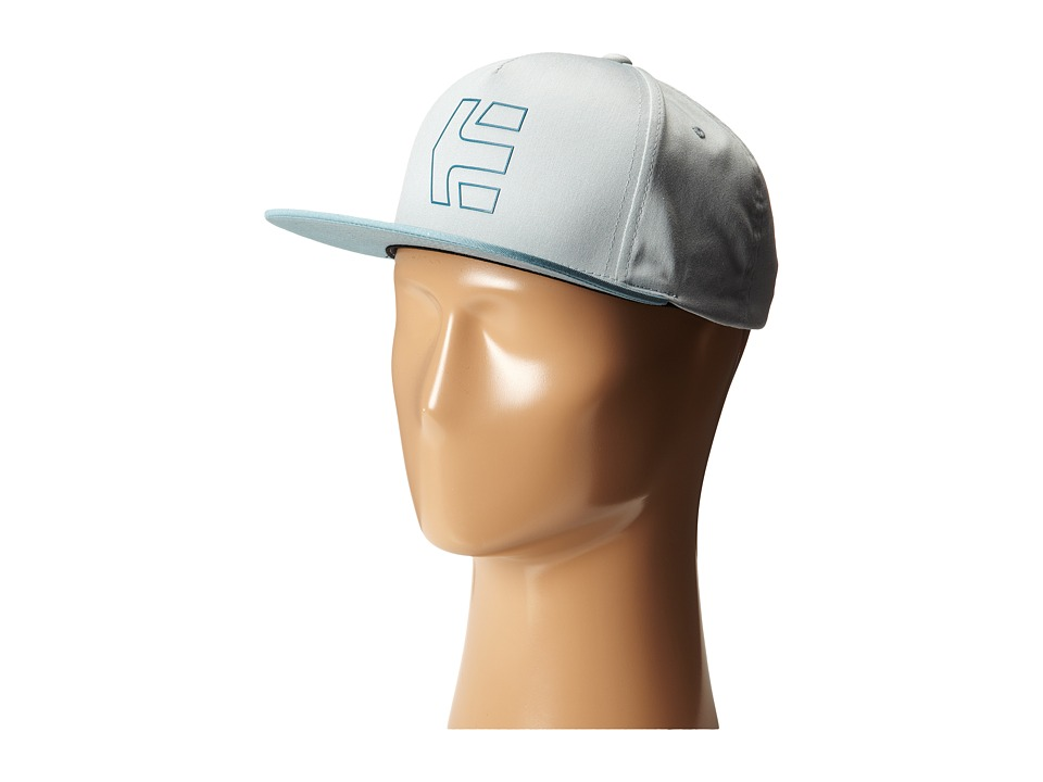 etnies - Icon 7 Snapback Hat (Grey/Light Grey) Caps