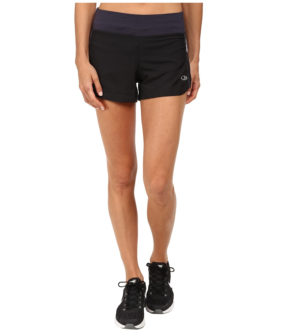 Icebreaker - Spark Shorts (Black) Women's Shorts