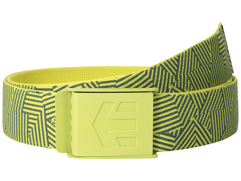 etnies - Staplez Graphic Belt (Gold) Men's Belts