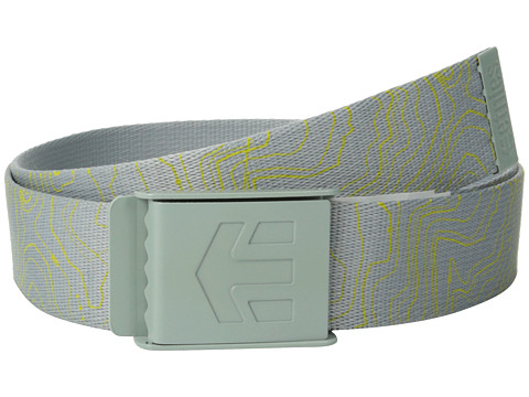 etnies - Staplez Graphic Belt (Grey/Light Grey) Men