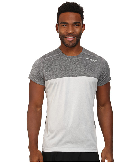 Zoot Sports - Run Surfside Split Tee (Black Heather/Silver Strand Heather) Men's T Shirt