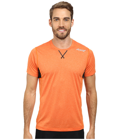 Zoot Sports - Run Surfside Tee (Solar Flare Heather/Black) Men