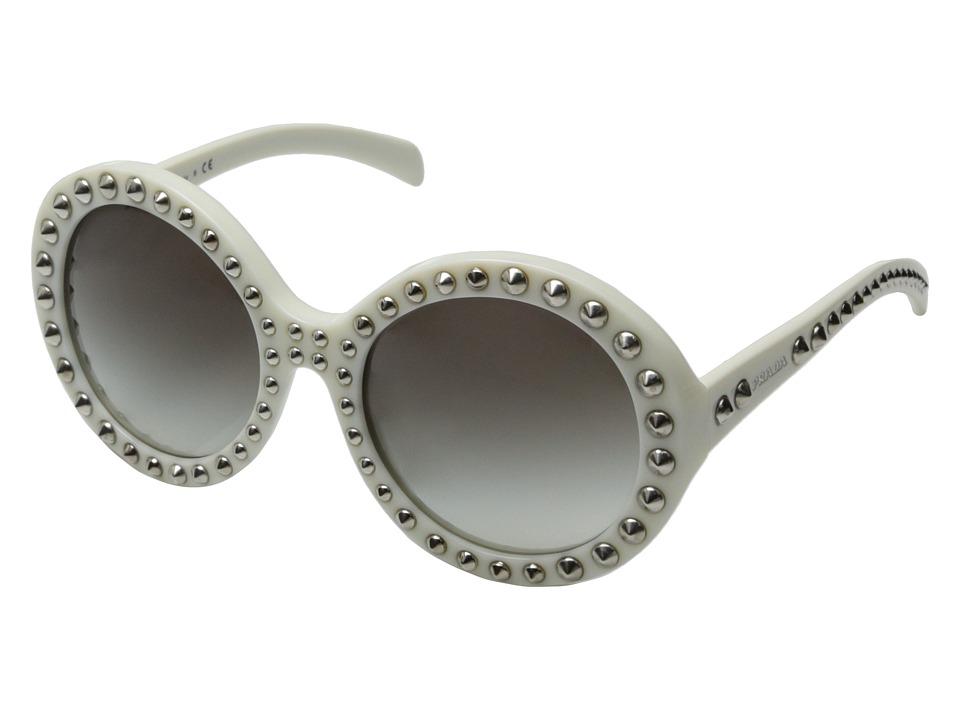 Prada - 0PR 29QS (Ivory/Silver Studs) Fashion Sunglasses