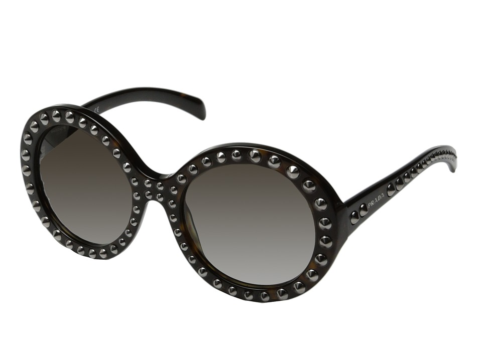 Prada - 0PR 29QS (Black/Gunmetal Studs) Fashion Sunglasses