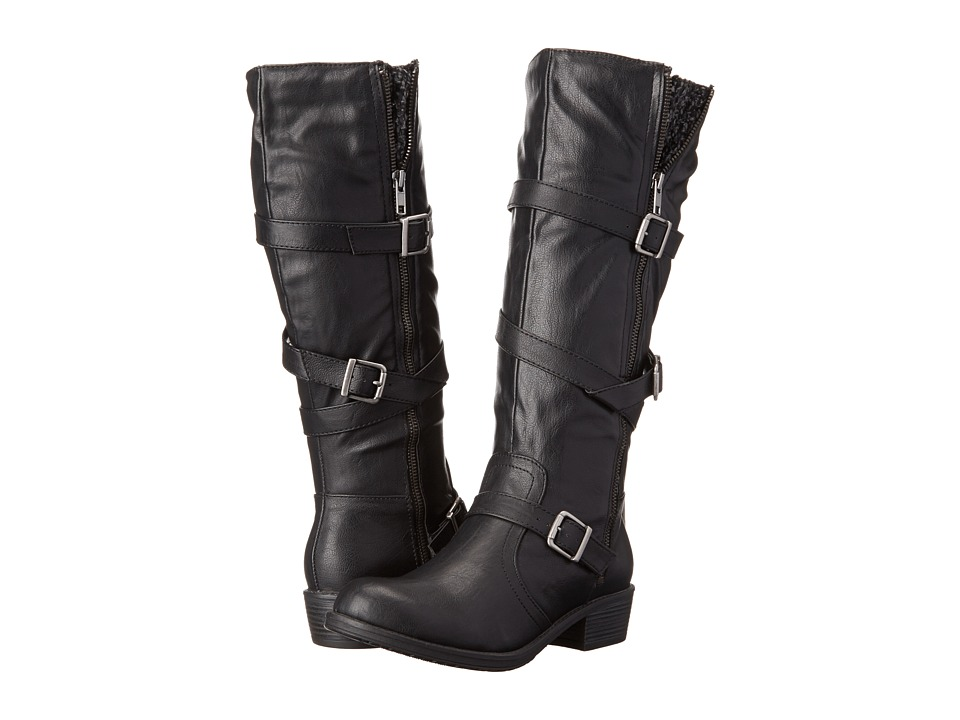 Jellypop - Valeria (Black/Grey) Women's Zip Boots
