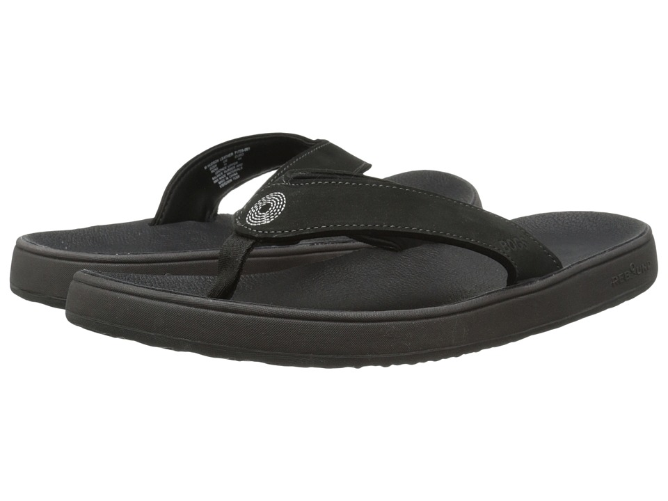 Bogs - Hudson Leather Flip (Black) Men's Sandals
