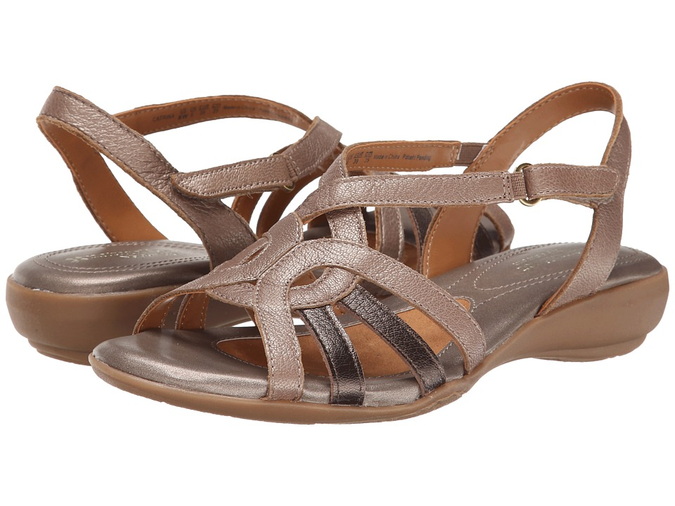 Naturalizer - Catrina (Nickel Alloy/Dark Brown Bronze Metallic Leather) Women